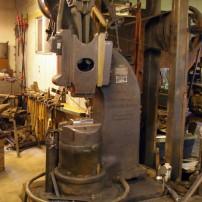 The power hammer built in 1895 in Boston.