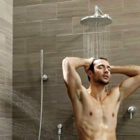 Moen body sprays with rainhead shower