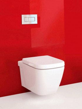 Invisi wall hung toilet by Caroma in white