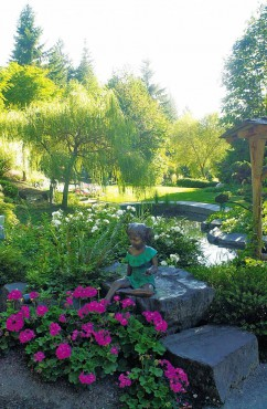 Rosedale Gardens — The Junges' private garden is a showcase of Scott's incredible talent.