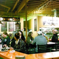 Diners gather at Port Orchard Public Market's Central Dock, which proudly serves many locally sourced ingredients.