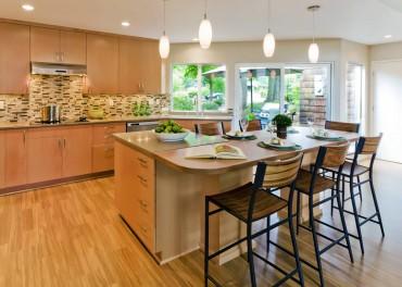 Laminate floor — Design by Linda Evans, CKD, CBD, CAPS