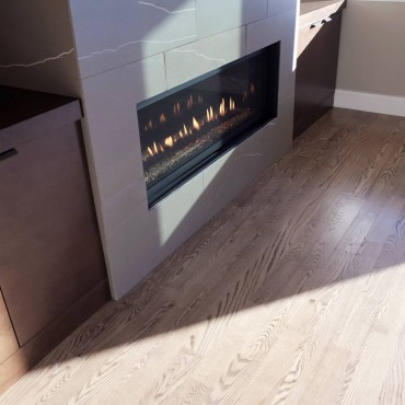 Solid oak hardwood floor — Design by Demane Design