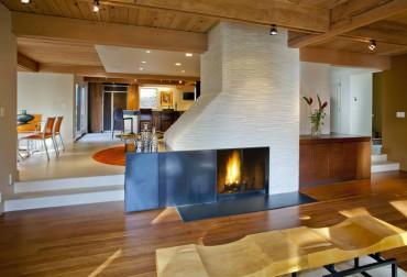 Carmelized bamboo flooring — Design by Linda Evans, CKD, CBD, CAPS