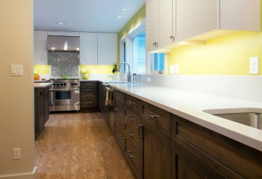 Burl cork floor — Design by A Kitchen That Works LLC