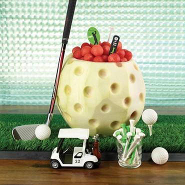 Golf ball serving bowl