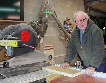 John Steiner in his shop