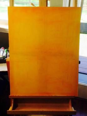 Orange primer and sketch