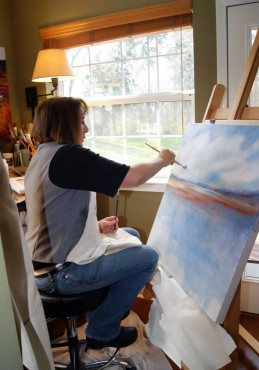 Artist Marti Green in her home studio