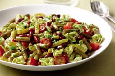 Bean, Tortellini & Pesto Salad
