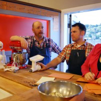 Netshed No. 9's chef Rieck with owners, Thad Lyman and Katie Doherty