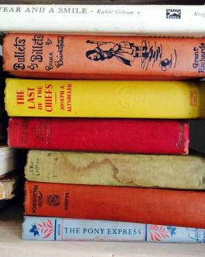Vintage kid's books at No. 7 Books in Port Gamble.