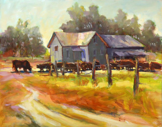 """Cattle Scene"" by Donna Trent, one of the artists featured at this year's tour."