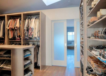 Informal walk-in closet — design by A Kitchen That Works LLC