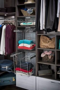 Closet wire baskets by Hafele