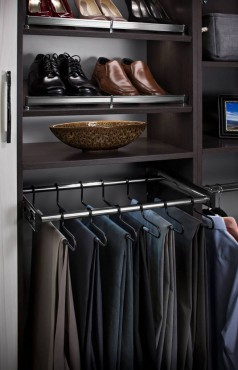 Pant rack and shoe fence by Hafele