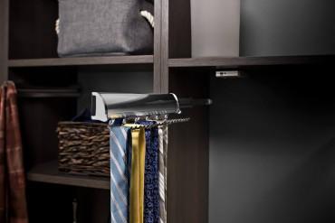 Retractable tie rack by Hafele
