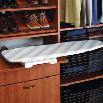 Built-in closet ironing board by Hafele