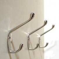 Crome closet wall hooks