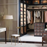 Closet seating and make-up table by California Closets