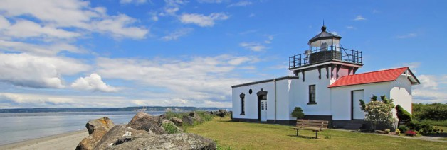 The light station after it was rehabilitated by the U.S. Lighthouse Society using the 1930s as a timeline. (Photo courtesy Dave Olsen / USLHS Archive)