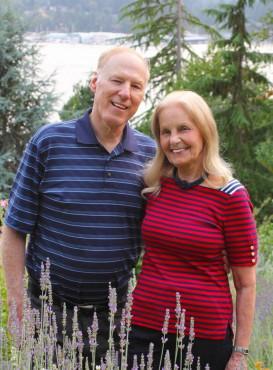 John and Santica Albers in the garden.