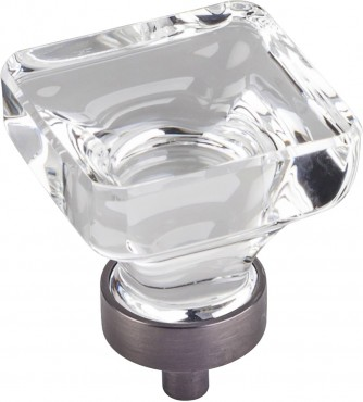 Harlow knob in glass with bronze base by Jeffery Alexander for Hardware Resources