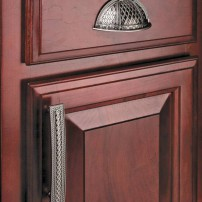 Passport Trevi Fountain cup pull and D-pull in pewter antique by Tob Knobs