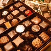 Personalize a gift box or choose one of Boehm's prepared boxes with the shop's most popular chocolates.