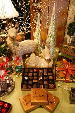 Enjoy the beautiful holiday decorations at Boehm's of Poulsbo.