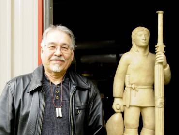 Artist Larry Ahvakana
