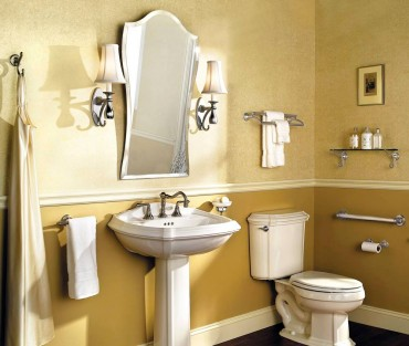 Circe grab bar in chrome and porcelain by Ginger