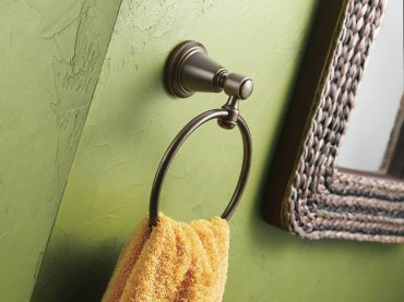 Bradshaw towel ring in oil-rubbed bronze by Moen