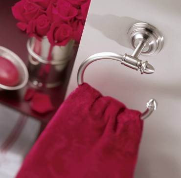 Stockton towel ring in brushed nickel by Moen