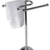Essentials — traditional guest towel rack in chrome by Valsan