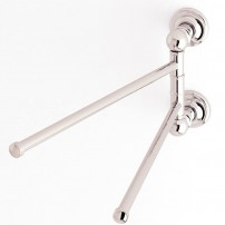 Columnar hand-towel rail in chrome by Ginger