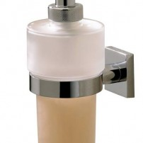 Braga liquid soap wall-mounted pump in chrome by Valsan