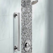 Iso designer grab bar in chrome by Moen