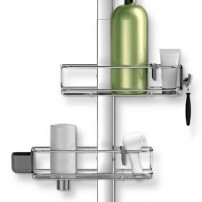 Adjustable shower caddy plus in anodized aluminum by simplehuman