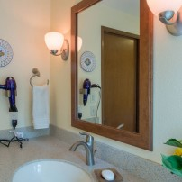 Eva hairdryer holder in satin nickel by Moen — design by A Kitchen That Works LLC