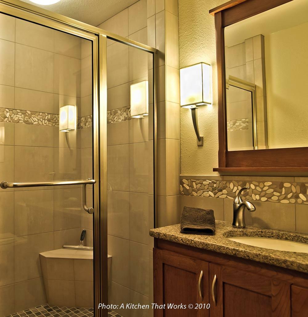 Integral Solid Base Tile Corner Shower Seat Design By A Kitchen That Works Llc