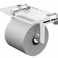 Kubic toilet tissue holder in chrome by Ginger