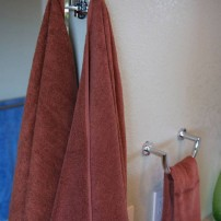 Kubic pivoting robe/towel hook in chrome by Ginger