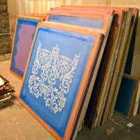 A variety of pattern stencils