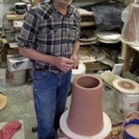 Dan Barnett in his studio