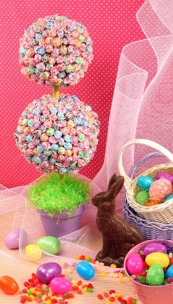 Wsmag Net Blog Weekend Craft Project Candy Is Dandy Easter Topiary At Home Featured March 11 2016 Westsound Magazine