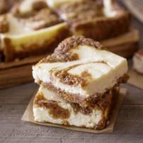 Carrot Cake Swirled Cream Cheese Bars