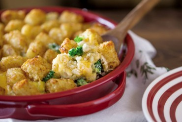 Cheesy Broccoli Cauliflower Tater-Topped Casserole