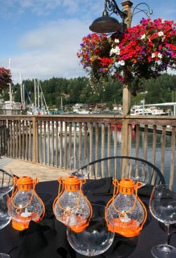 Beautiful table setting and view at the Brix 25º wine dinner