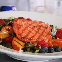 Anthony's chef Pat Donahue presented a special class on summer sockeye salmon.